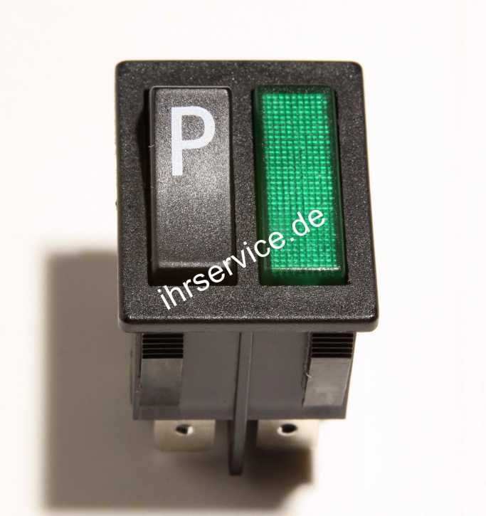Schalter P - mit grüner Anzeige