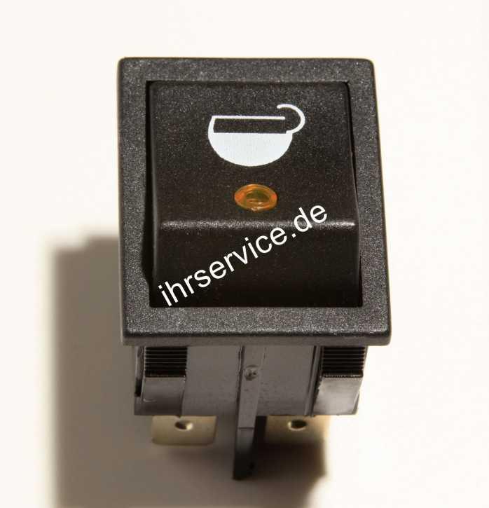 Schalter für Kaffee - orange LED