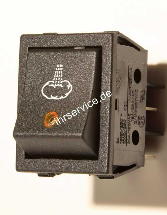 Schalter Dampf mit orange LED